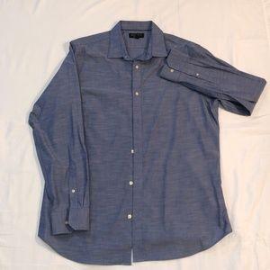 BR Blue Slim Fit Dress Shirt